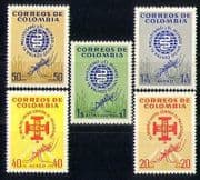 Colombia 1962 Malaria  /  Health  /  Medical  /  Insects 5v  n27403