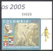 Colombia 2005 Art  /  Painting  /  Sports  /  Games  /  Flags  /  Statue 1v (n36134)