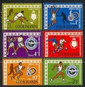 Cook Is 1966 Sports  /  Games  /  Basketball  /  Football  /  Tennis  /  Boxing 6v set (n31489)