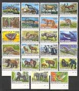 Cook Islands 1992 Animals  /  Birds  /  Insects 23v set n20286