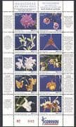 Costa Rica 2007 Orchids  /  Flowers  /  Plants  /  Nature  /  Conservation 10v m  /  s (n34312)