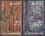 Croatia 2011 Europa/ Forests/ Trees/ Nature/ Conservation/ Art/ Artists/ Paintings/ Painters 2v set (n44786)