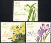 Croatia 2012 Crocus/ Snowdrop/ Primrose/ Flowers/ Plants/ Nature 3v set (n44792)