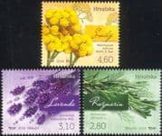 Croatia 2016 Lavender/ Rosemary/ Curry Plant/ Plants/ Flowers/ Nature 3v set (n44794)