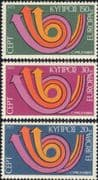 Cyprus 1973 Europa/ CEPT/ Communication/ Posthorn/ Arrows/ Animation 3v set (ex1053)