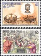 Cyprus 1982 Europa/ Naval Battle/ Religion/ History/ Boats/ People 2v set (ex1037)