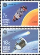 Cyprus 1991 Europa/ Space/ Halley's Comet/ Giotto/ Satellite/ Astronomy 2v set (n30178)
