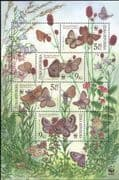 Czech Republic 2002  WWF/ Butterflies/ Insects/ Nature/ Conservation/ Butterfly  4v sht (b8708)