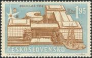 Czechoslovakia 1958 EXPO/ Exhibition/ Buildings/ Architecture/ Airmail/ Air Mail 1v (n44633)