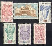 Czechoslovakia 1958 EXPO  /  Exhibition  /  Buildings  /  Architecture  /  Puppets 6v (n37358)