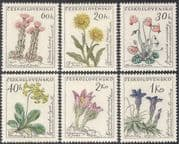 Czechoslovakia 1960 Flowers/ Plants/ Succulents/ Cactus/ Nature 6v set (n43148)