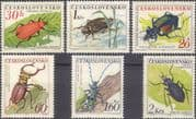 Czechoslovakia 1962  Insects/ Beetles/ Nature/ Wildlife/ Conservation  6v set  (n46443)