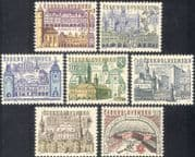 Czechoslovakia 1965 Towns/ Clock/ Bell Towers/ Church/ Cathedral/ Town Hall/ Buildings/ Architecture/ Heritage 7v set (n44168)