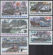 Czechoslovakia 1972 Ships/ Boats/ Commerce/ Trade/ Transport/ Harbour/ Tugs/ Business/ Industry 6v set (n44381)