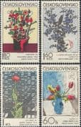 Czechoslovakia 1974 Flowers/ Art/ Paintings/ Artists/ Tulips/ Modern/ Contemporary/ Abstract 4v set (n44164)