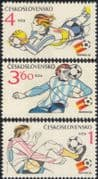 Czechoslovakia 1982 Football World Cup Championships, Spain/ WC/ Soccer/ Sports/ Games 3v set (n44697)