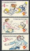 Czechoslovakia 1982 Sports  /  Football  /  World Cup  /  WC  /  Soccer  /  Games 3v set (n37781)