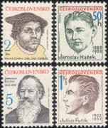 Czechoslovakia 1983 Jasoslav Hasek/ Martin Luther/ Brahms/ People/ Writers/ Composers 4v set  n46242