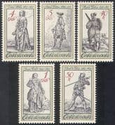 Czechoslovakia 1983 Military Uniforms  /  Traditional Costumes  /  Clothes 5v set n39415
