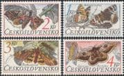 Czechoslovakia 1987 Butterflies/ Moths/ Insects/ Nature/ Conservation 4v set (s2243)