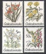 Czechoslovakia 1990 Tiger Flower  /  Lily  /  Flowers  /  Plants  /  Nature 4v set (n38273)