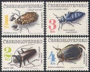 Czechoslovakia 1992 Beetles  /  Insects  /  Nature  /  Environment 4v set (n40921)