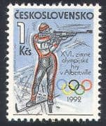 Czechoslovakia 1992 Winter Olympic Games  /  Olympics  /  Sports  /  Shooting 1v (n40934)