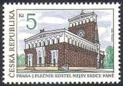Czechoslovakia 1993 Church  /  Buildings  /  Architecture  /  Religion  /  Heritage 1v (n40989)