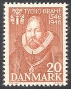 Denmark 1946 Tycho Brahe  /  Astronomy  /  Science  /  Stars  /  Space  /  People 1v (n34060)