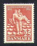 Denmark 1952 Life-saving Service  /  Emergency  /  Rescue  /  People 1v (n37377)