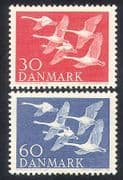 Denmark 1956 Northern Countries Day  /  Swans  /  Birds  /  Nature  /  Wildlife 2v set (n38625)
