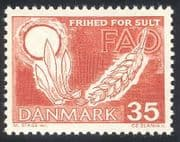 Denmark 1963 FAO  /  Hunger  /  Food  /  Crops  /  Wheat  /  Farming  /  Freedom From Hunger 1v (n31747)