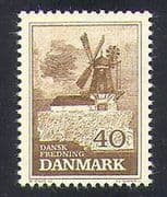 Denmark 1965 Windmill  /  Mill  /  Buildings  /  Architecture  /  Conservation 1v (n37331)
