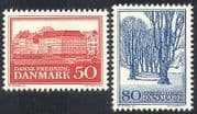 Denmark 1966 Trees  /  Nature  /  Buildings  /  Architecture  /  Conservation 2v set (n40996)