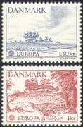 Denmark 1973 Europa/ Architecture/ Buildings/ Farming/ Trees/ Nature 2v set (n42723)