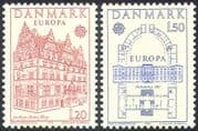 Denmark 1978 Europa/ Architecture/ Buildings/ Castle/ House/ Heritage/ History 2v set (n42721)