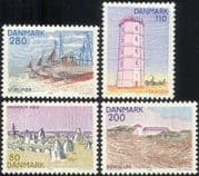 Denmark 1980 Views/ Landscapes/ Sailing/ Fishing Boats/ Lighthouse/ Stone Circle/ Buildings/ Architecture/ Transport 4v n44736