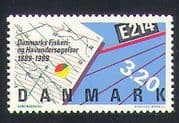 Denmark 1989 Fisheries  /  Marine  /  Research  /  Map  /  Science  /  Conservation 1v (n34628)