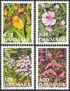 Denmark 1990 Endangered Flowers/ Plants/ Nature/ Orchids/ Conservation/ Environment 4v set (n42729)