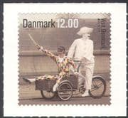 Denmark 2012 Europa/ Tourism/ Clowns/ Bike/ Tricycle/ Cycling/ Transport/ Pierrot/ Harlequin 1v s/a (n42638)