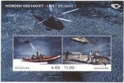 Denmark 2012 Helicopter/ Lifeboat/ Emergency/ Rescue/ Aircraft/ Boats/ Transport/ Aviation/ Nautical / Maritime 2v m/s (n42641)