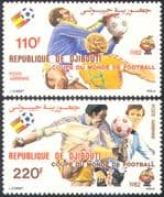 Djibouti 1982 Football World Cup, Spain/ WC/ Soccer/ Games/ Sports 2v set (n42145)