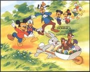 Dominica 1984 Disney/ Easter Rabbit/ Mickey/ Donald/ Goofy/ Cartoons/ Imperforate/ IMPERF m/s d00273