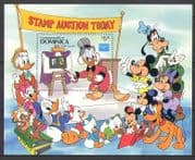 Dominica 1986 Disney/ Mickey/ Pluto/ Stamp Auction/ Cartoons/ Animation 1v m/s (n26746)