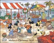 Dominica 1988 Disney/ Christmas/ Greetings/ Mickey/ Market/ Cartoons/ Animation 1v m/s (b413b)