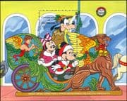 Dominica 1990  Disney/ Christmas/ Mickey/ Griffin/ Greetings/ Cartoons/ Animation 1v m/s (s578s)
