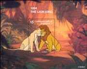 Dominica 1997 Disney/ Lion King/ Animation/ Cartoons/ Films/ Cinema 1v m/s (b4782)