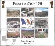 Dominica 1997 Football/ Stadia/ Stadiums/ World Cup/ Buildings/ Architecture/ Sports 8v sht n41349