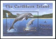 Dominica 2001 Dolphins/ Marine/ Nature/ Wildlife/ Conservation/ Waterfall/ Forest 1v m/s (s4295)