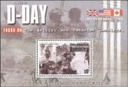 Dominica 2004 D-Day Landings 60th Anniversay/ Military/ Soldiers/ Army/ War 1v m/s (n15405b)